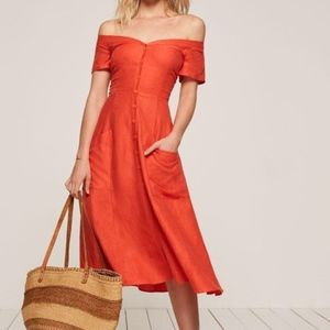 Reformation Mariposa Dress in Fruit Punch